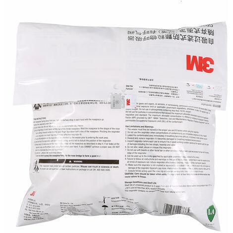 3M 9551V Kn95 Respirateur Masques De Protection Masque De Securite Avec Masque Bouche Valve Visage Pour Activites De Plein Air, 25Pcs