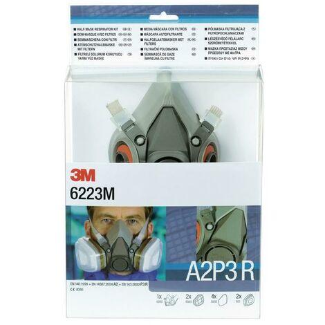 3M Atemschutzhalbmaskenset 6223 – SET – A2P3R EN 140 m.Filter M 3M