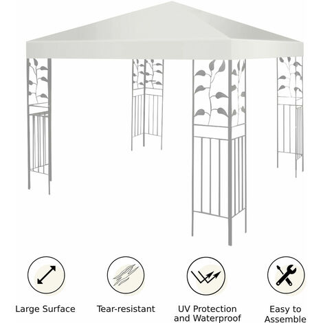 """main image of """"3m Canopy Cover Outdoor Patio Gazebo Replacement Top Cover Party Picnic Tent"""""""