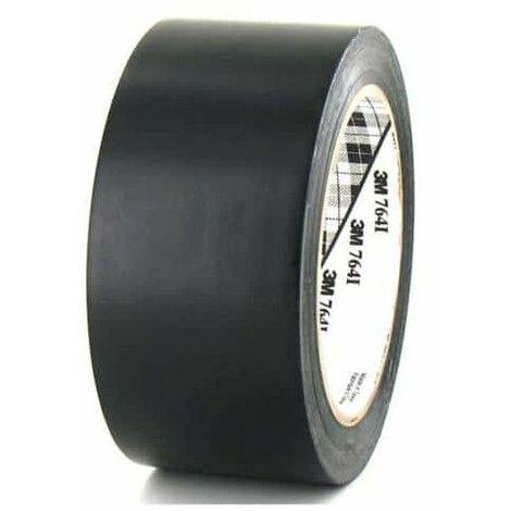 3M cinta adhesiva de vinilo 764 de 50 mm negro