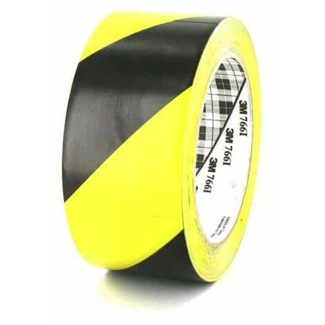 3M cinta adhesiva de vinilo 766 Amarillo y Negro 50mm