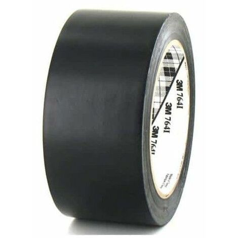 3M cinta adhesiva de vinilo negro de 50 mm x 764 5