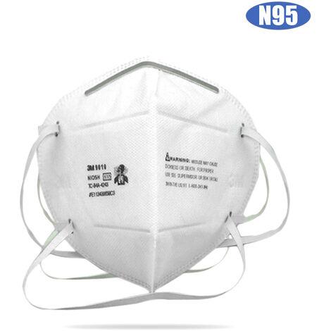 3M De 9010 Respirateur Us Standard Niosh N95 Masque Facial Tete Monte Embouchure