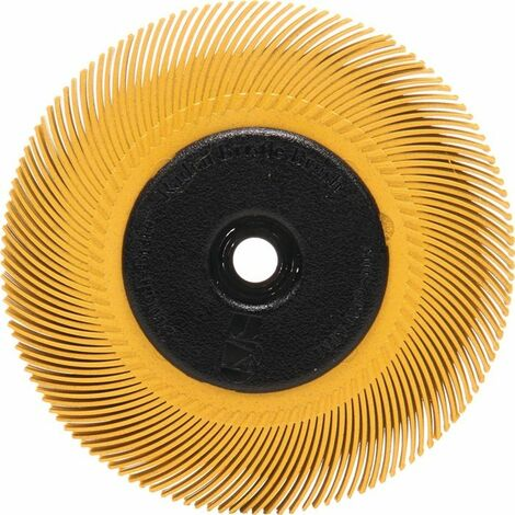 3M Disque brosse radiale Brosse à poils K.80 D.150mm B.12mm 3M avec adaptateur