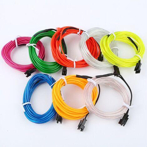 "main image of ""3M El LED Flexible Soft Tube Wire Neon Glow Car Rope Strip Light Christmas Decor DC 12V"""
