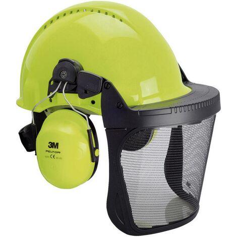 3M G3000 XA007707277 Forstschutzhelm mit integriertem Visier Neon-Grün W51464