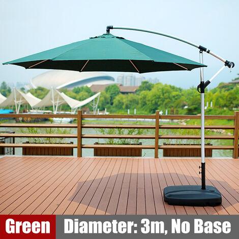 3M Garden Parasol Cover Outdoor Waterproof Sunshade Umbrella without base green