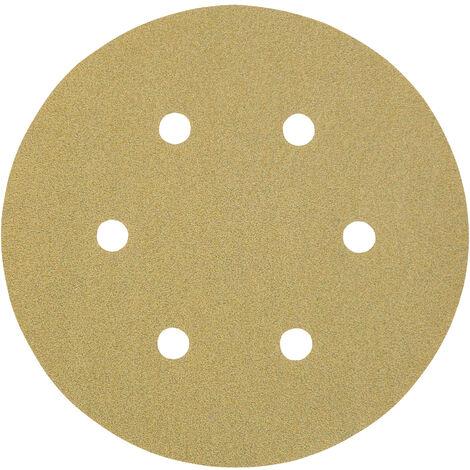 3M I00320 - Caja de 100 discos de 150 mm de papel C autoadherente con abrasivo AlOx y antiembozante (6 agujeros; grano 360)