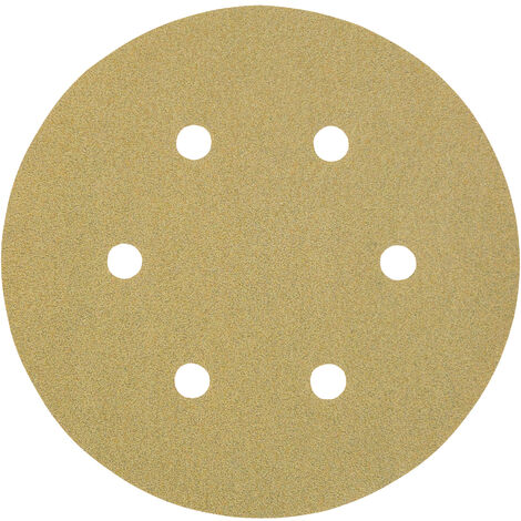 3M I00529 - Caja de 100 discos de 150 mm de papel C autoadherente con abrasivo AlOx y antiembozante (8 agujeros; grano 280)
