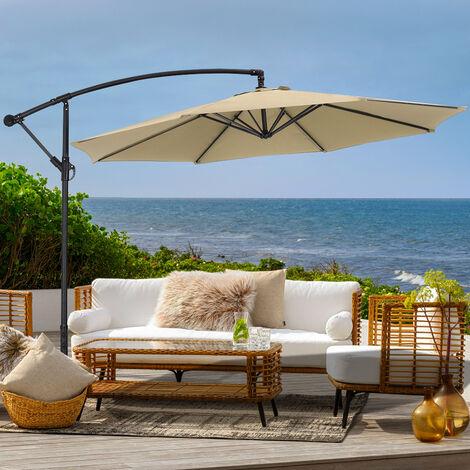 "main image of ""3M Large Garden Hanging Parasol Cantilever Sun Shade Patio Banana Umbrella"""