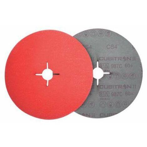 3M Lija Circular Cubitron Fibra 987C 125 Gr.36 Naranja