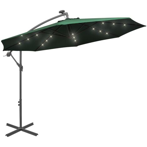 3m Parasol with Lights by Freeport Park - Green