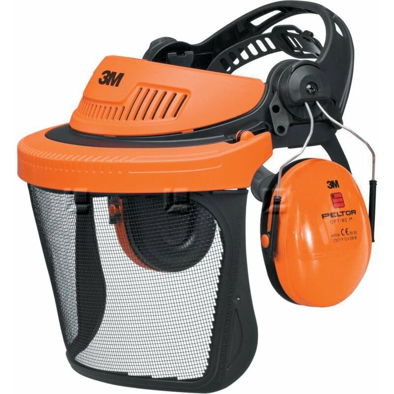 Image of G500 Forestry Headgear Visor & Optime I Ear Muff - 3m Peltor