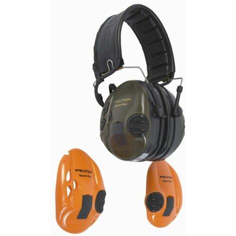 3M Peltor MT16H210F-478-GN Sportac Protector auditivo para cazadores y tiradores deportivos
