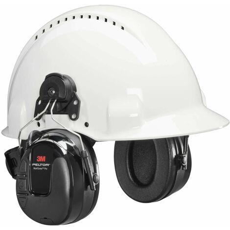 3M PELTOR WorkTunes Pro FM Radio orejera negra anclaje a casco 10Un
