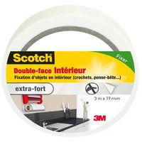 3M SCOTCH Double-face - 3 m x 19 mm - Intérieur