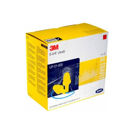 3M Uf-01-000 3M E-A-R Ultrafit Pre-Moulded Ear Plugs Pack Of 50
