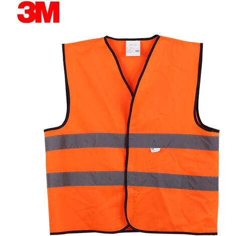 3M V10S0 alta visibilidad chaleco reflectante de seguridad ropa de trabajo de seguridad Chaleco, naranja fluorescente, XL