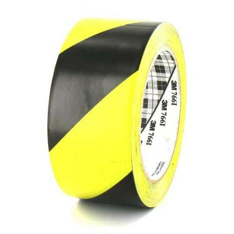 3M Vinyl Tape 766 yellow and black 50mm x 5