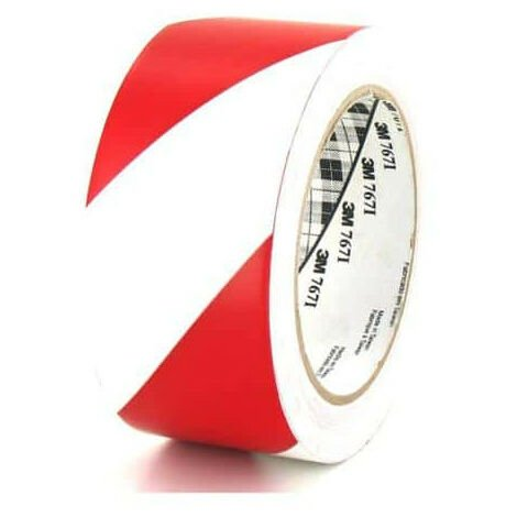 3M Vinyl Tape 767 Red and white 50mm