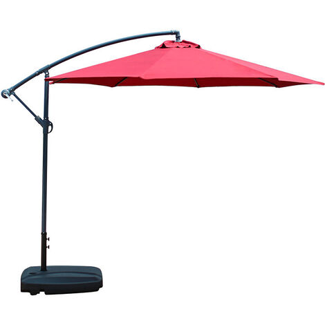 3M Waterproof Sunshade Beach Umbrella Patio winered