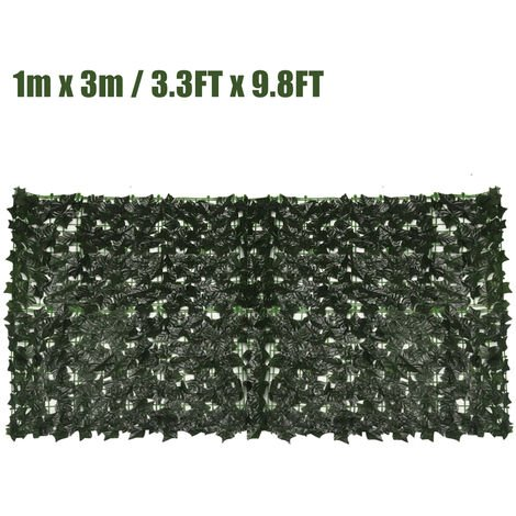 """main image of """"3m x 1m Green Wall Fence Hedge Artificial Ivy Leaf"""""""