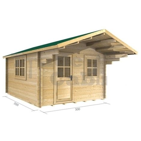 3m x 3m Log Cabin (2025) - Double Glazing (70mm Wall Thickness)