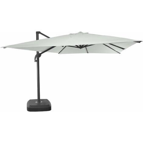 3m x 4m wind-resistant Belveo by Easywind cantilever parasol - Mistral, Colour: Ecru