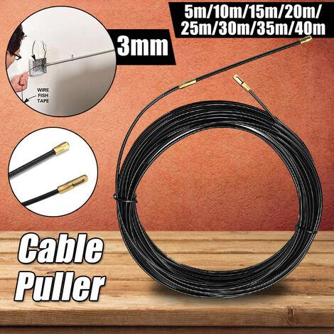 3mm 8 taille extracteur de cable fil de fibre de verre extracteur de cable outils électriques bande de poisson 40m 40 m