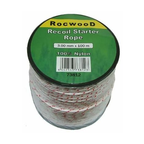 3mm x 100 Metres Starter, Recoil Pull Cord, Rope