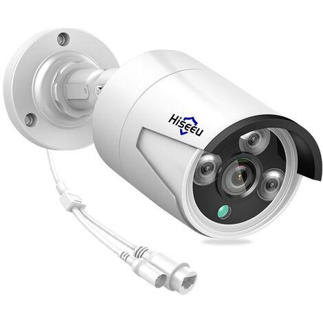 3Mp Poe Camera Ip Exterieure Soutien Camera De Securite Accueil Etanche Vision Nocturne De Detection De Mouvement D'Acces A Distance