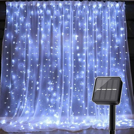 3mx3m String Lights Waterproof Curtain Lighting Indoor Outdoor Decoration 8 Modes 300 White LEDs