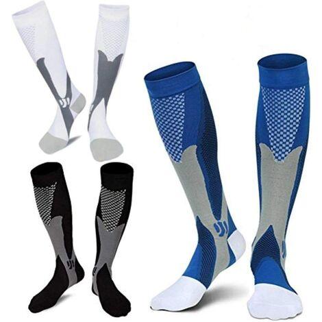 3Pair Medical Sport Compression Socks Men,20-30mmhg Run Nurse Socks for Edema Diabetic Varicose Veins