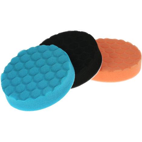 """3PCS, Almohadillas de esponja para pulido de automoviles Almohadilla de pulido encerado, 5"""""""