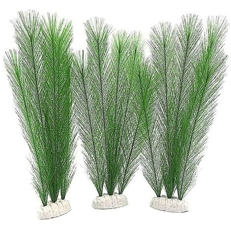 3Pcs Aquarium Plantes Artificielles Plantes Artificielles En Plastique Ornements Naturels Artificiels Feuillage Plantes Bricolage Plantes Realistes Pour Fish Tank Aquarium Paysage Decoration