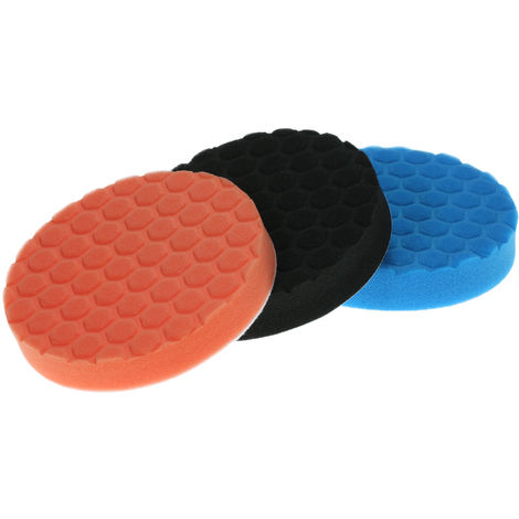 "3PCS Brand New 3"" 80mm/5"" 125mm/6"" 150mm/7"" 180mm Car Polishing Sponge Pads Waxing Buffing Pad Foam Kit Set"