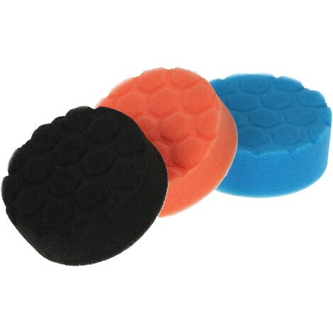 "3PCS Brand New 3"" 80mm Car polissage Tapis ¨¦ponge fartage Buffing Pad mousse Kit Set pour voiture Polisseuse Tampon Waxer Sander polissage fartage ¨¦tanch¨¦it¨¦ Glaze"