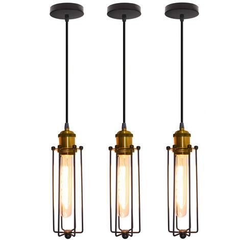 3pcs Creative Strip Pendant Light Retro Industrial Style Hanging Light Vintage Classic Ceiling Light for Cafe Loft Bar Bedroom