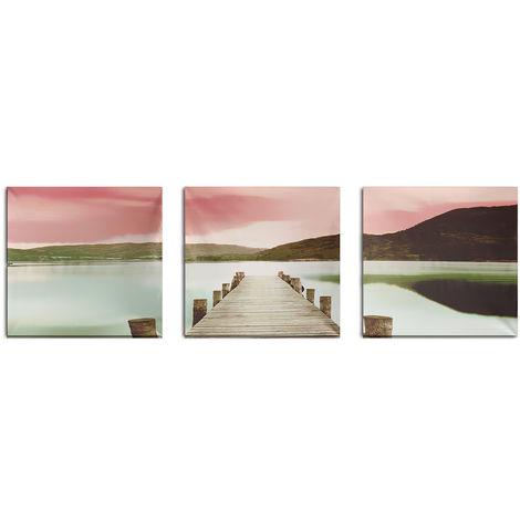 3pcs lienzo moderno de la pintura al óleo de la tabla del puente sin marco para la decoración de la pared Sasicare