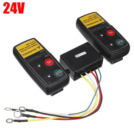 """main image of """"3PCS Système de télécommande sans fil de treuil électrique 24V pour treuil ATV de camion Jeep"""""""