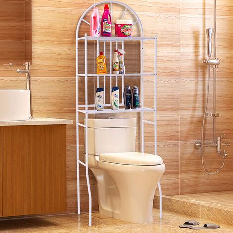 3Tier Bathroom Shelves Over Toilet Organiser Shelf Towel Rack Toiletries Storage