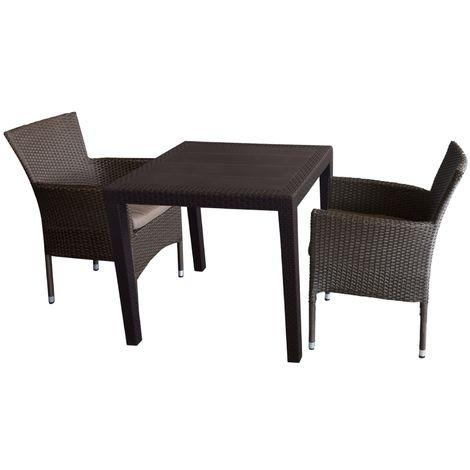 3tlg Gartengarnitur Sitzgruppe Sitzgarnitur Bistrogarnitur