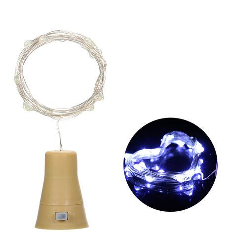 3V 6W 1m 10LED Wine Bottle Lights with Cork Starry Fairy Light Creative Copper Wire String Bottle Stopper