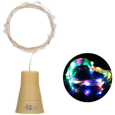 3V 9W 1.5m 15LED Wine Bottle Lights with Cork Starry Fairy Light Creative Copper Wire String Bottle Stopper Atmosphere Lamp Multicolor