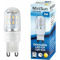 3w High Power Energy Saving Dimmable G9 LED Light Bulb - 280 Lumens - 3000K Warm White