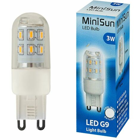3W High Power Energy Saving G9 LED Light Bulb - 300 Lumens - Cool White