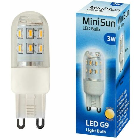 3W High Power Energy Saving G9 LED Light Bulb - 300 Lumens - Warm White