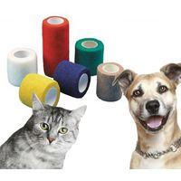 3x 10cm x 4.5m Yuzet Blue pet and animal friendly non adhesive bandages cat horse dog equines