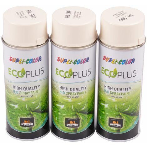 3x 400ml Dupli Color ECOPLUS Lackspray cremeweiß Farbspray Sprühlack Sprühdose