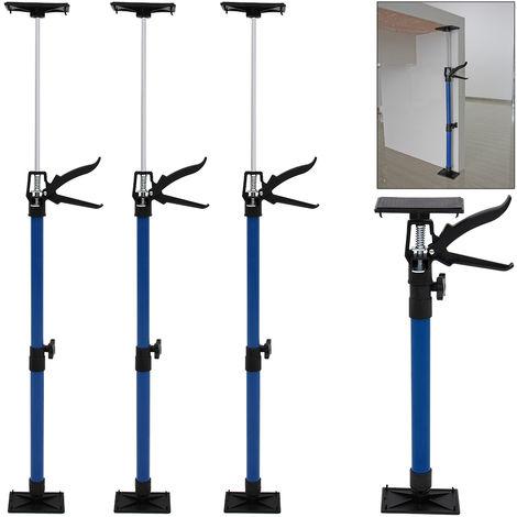 3x Door Frame Strut 50 - 115 cm Telescopic Door Setting Tool Blue Clamp DIY